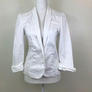 Express 3/4 Sleeve White Blazer Size 4